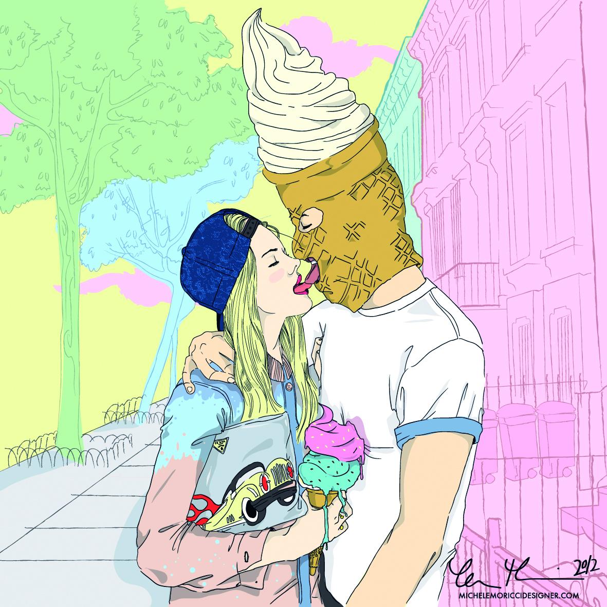 """Illustrazione di Moricci per il collettivo artistico """"I Scream Factory"""""""